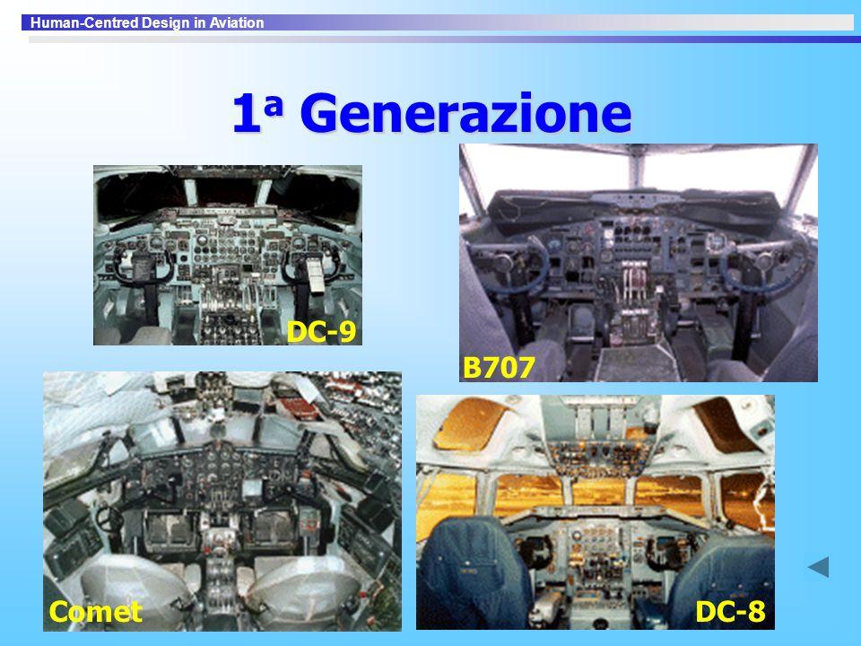 1a Generazione B707 DC-9 Comet DC-8
