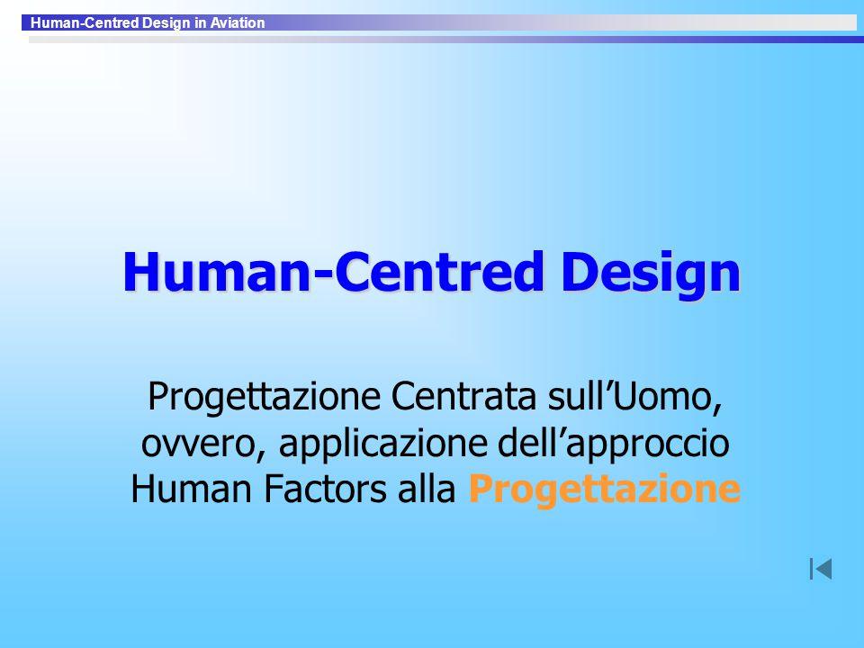 Human-Centred Design Progettazione Centrata sull'Uomo, ovvero, applicazione dell'approccio Human Factors alla Progettazione.
