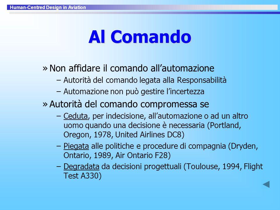 Al Comando Non affidare il comando all'automazione