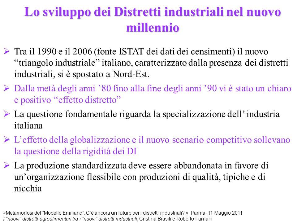 Lo sviluppo dei Distretti industriali nel nuovo millennio