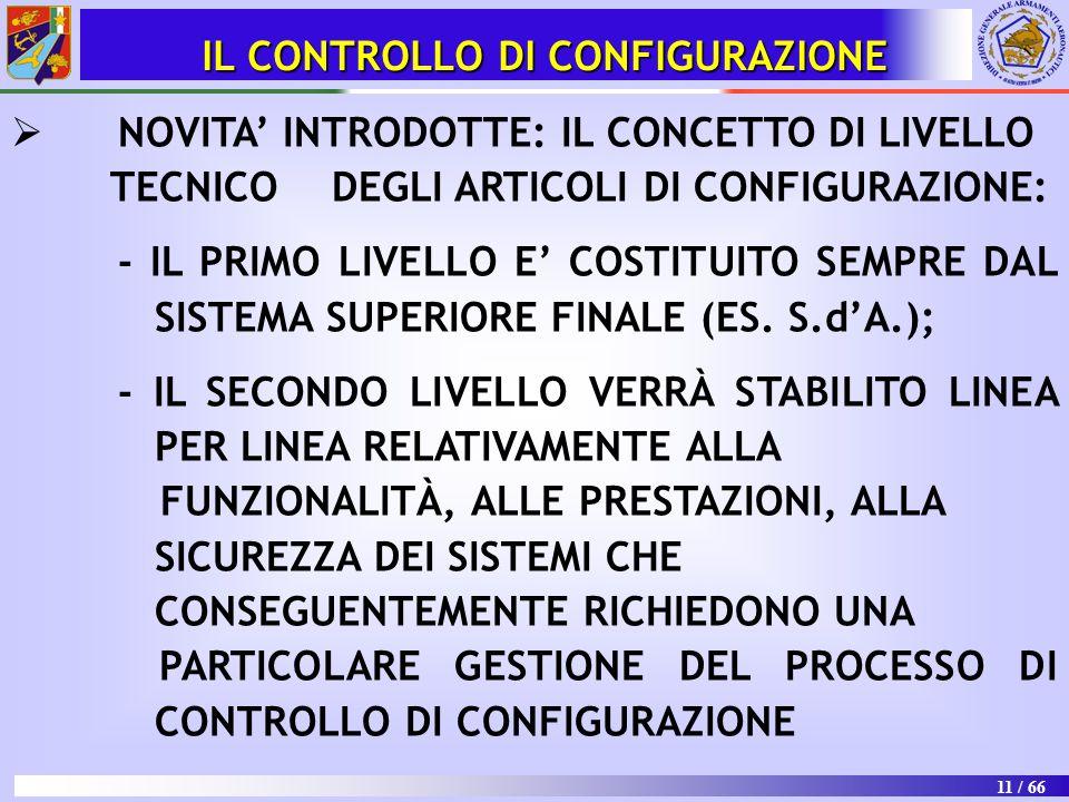 IL CONTROLLO DI CONFIGURAZIONE