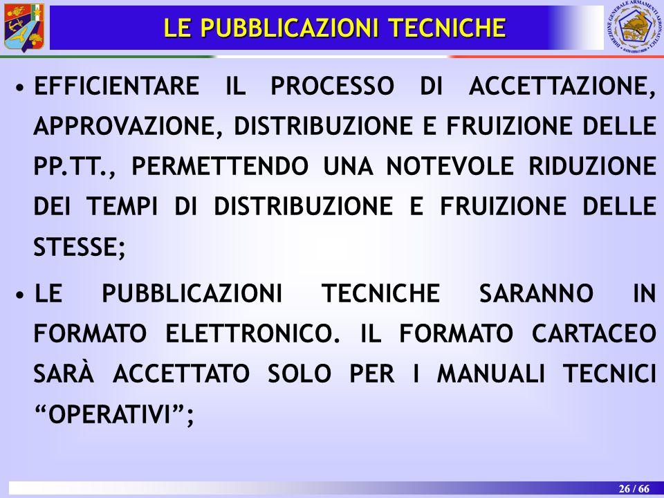 LE PUBBLICAZIONI TECNICHE