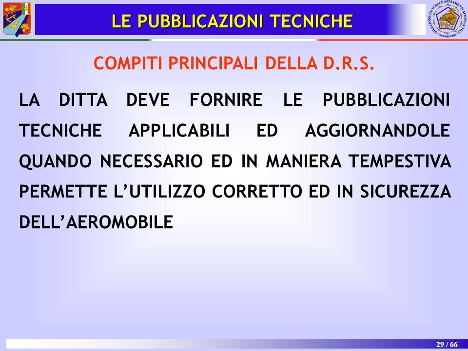 LE PUBBLICAZIONI TECNICHE COMPITI PRINCIPALI DELLA D.R.S.