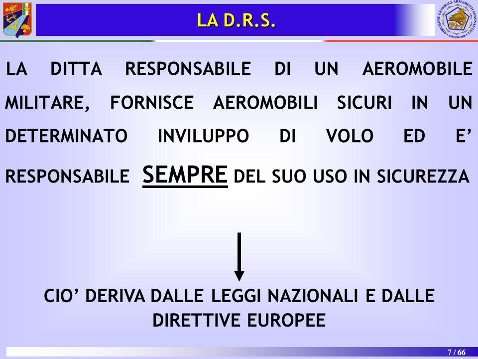CIO' DERIVA DALLE LEGGI NAZIONALI E DALLE DIRETTIVE EUROPEE