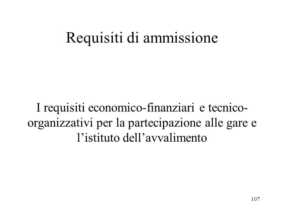 Requisiti di ammissione