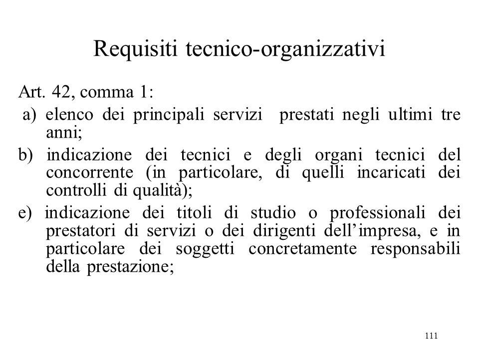 Requisiti tecnico-organizzativi