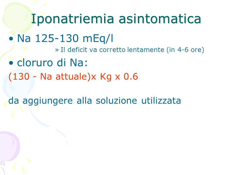 Iponatriemia asintomatica