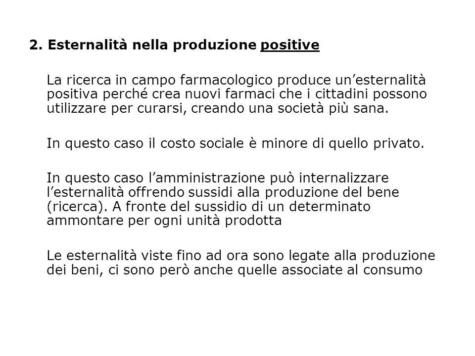 2. Esternalità nella produzione positive