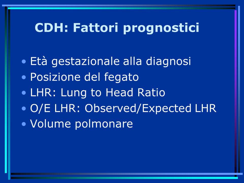CDH: Fattori prognostici