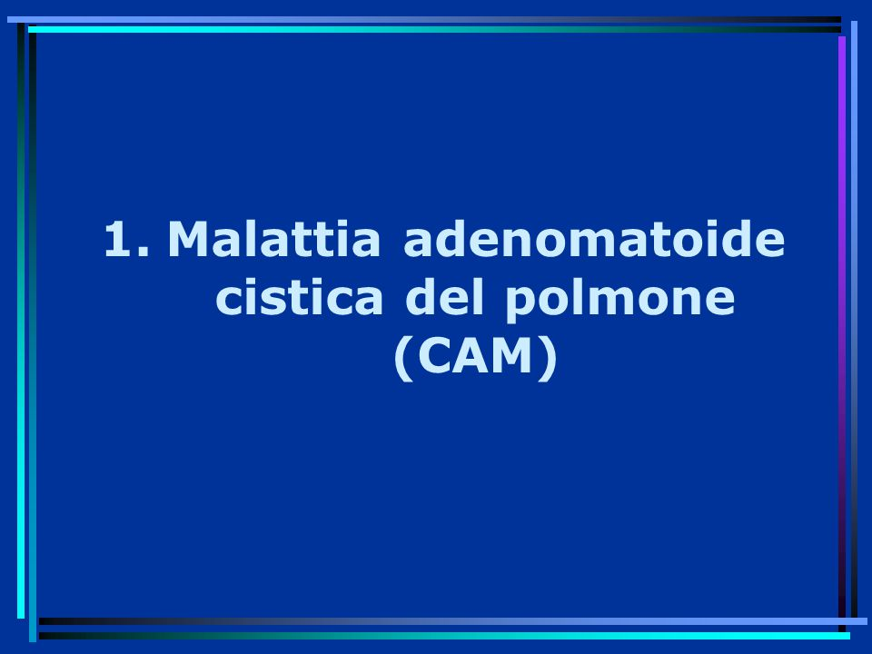 Malattia adenomatoide cistica del polmone (CAM)