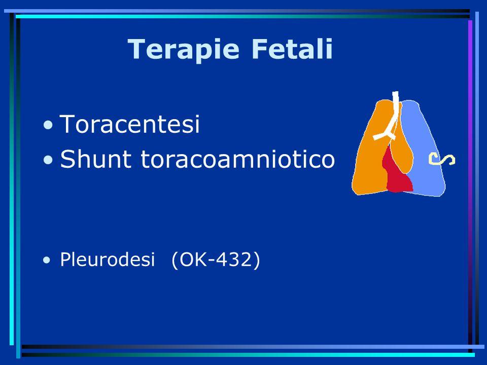 Terapie Fetali Toracentesi Shunt toracoamniotico Pleurodesi (OK-432)