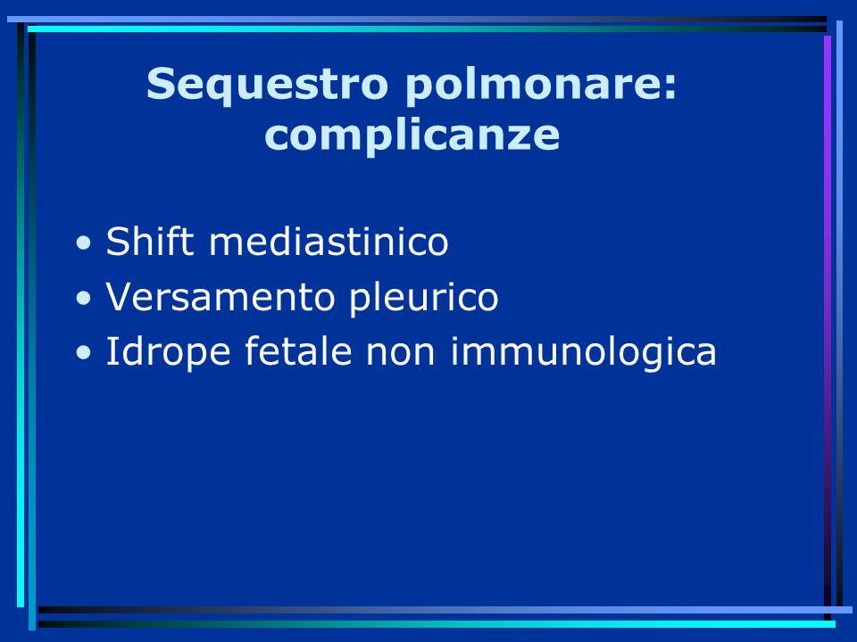 Sequestro polmonare: complicanze