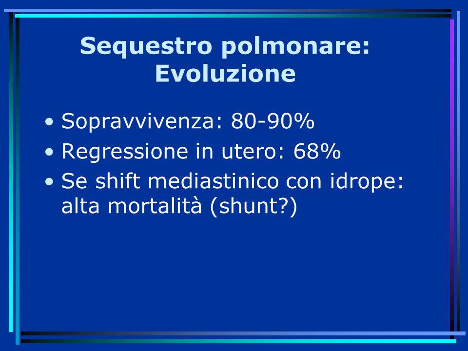 Sequestro polmonare: Evoluzione