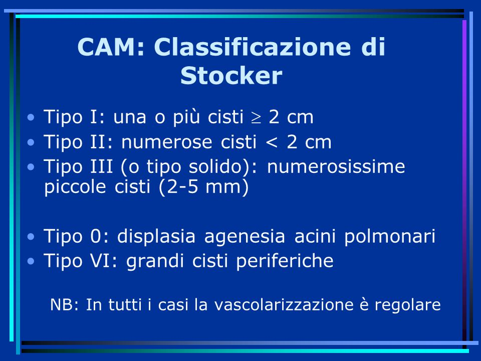CAM: Classificazione di Stocker