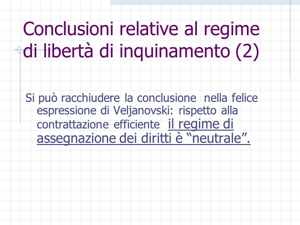 Conclusioni relative al regime di libertà di inquinamento (2)