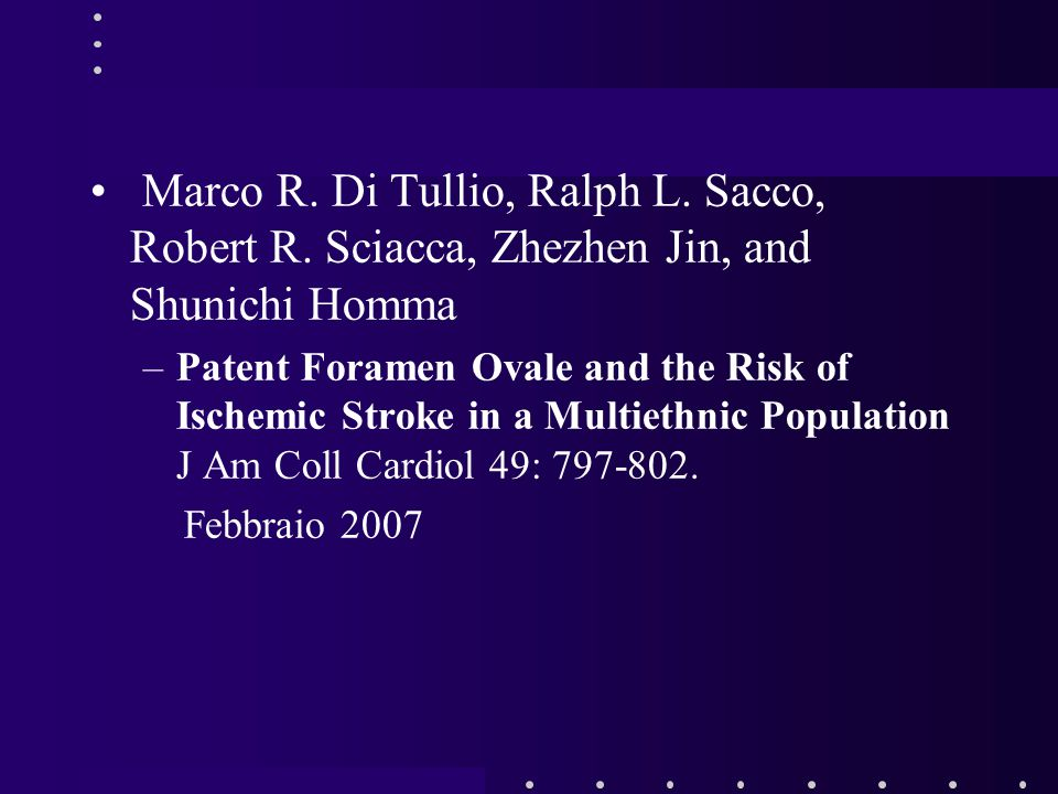 Marco R. Di Tullio, Ralph L. Sacco, Robert R