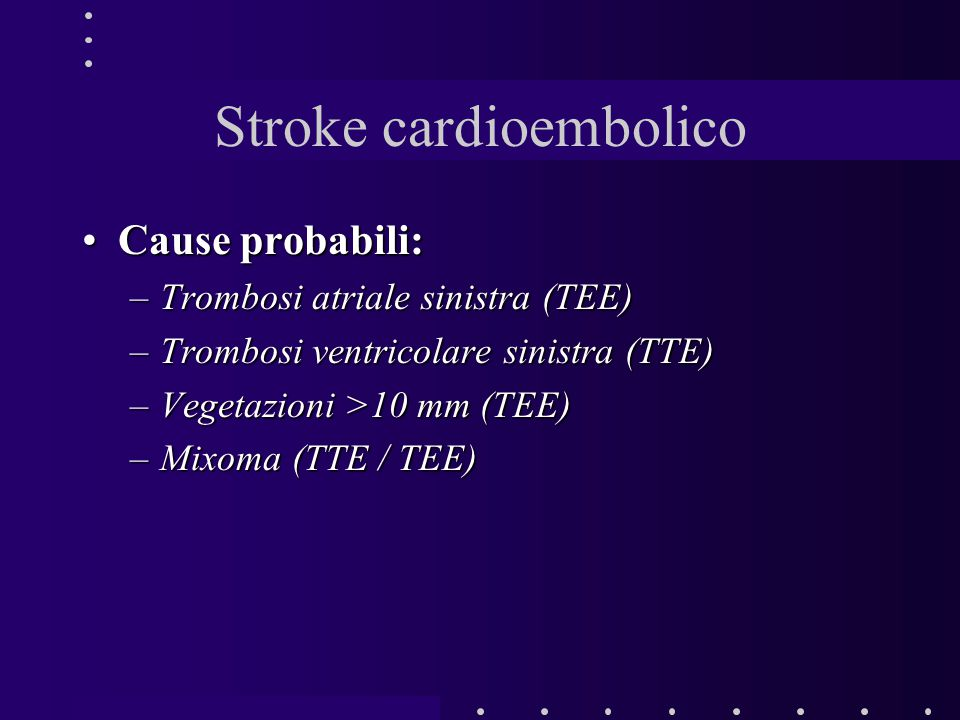 Stroke cardioembolico