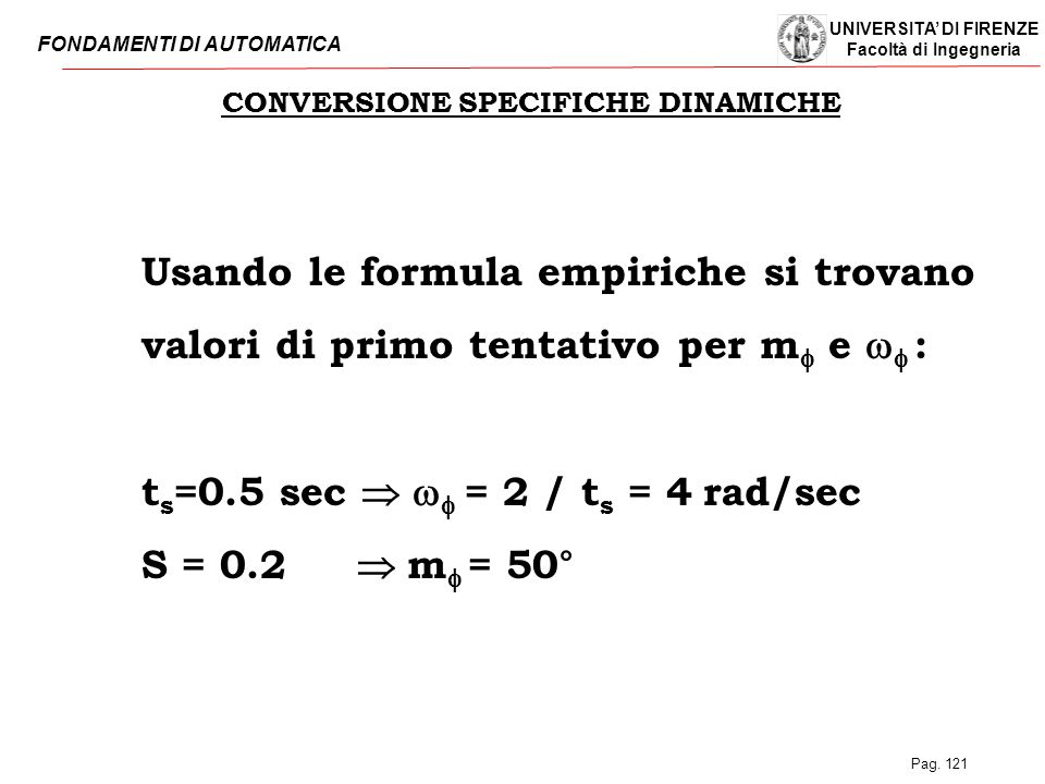 CONVERSIONE SPECIFICHE DINAMICHE
