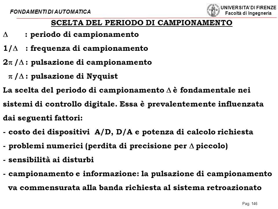 SCELTA DEL PERIODO DI CAMPIONAMENTO