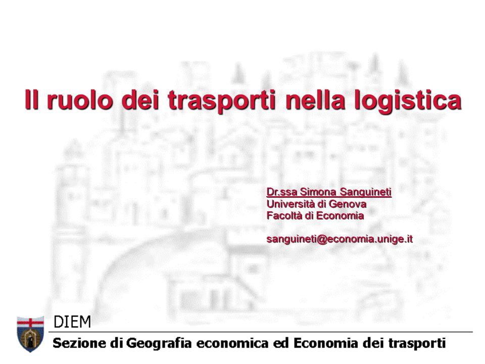 Il ruolo dei trasporti nella logistica