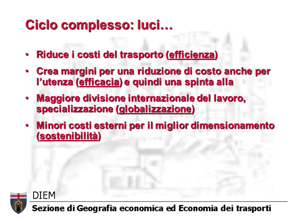 Ciclo complesso: luci…