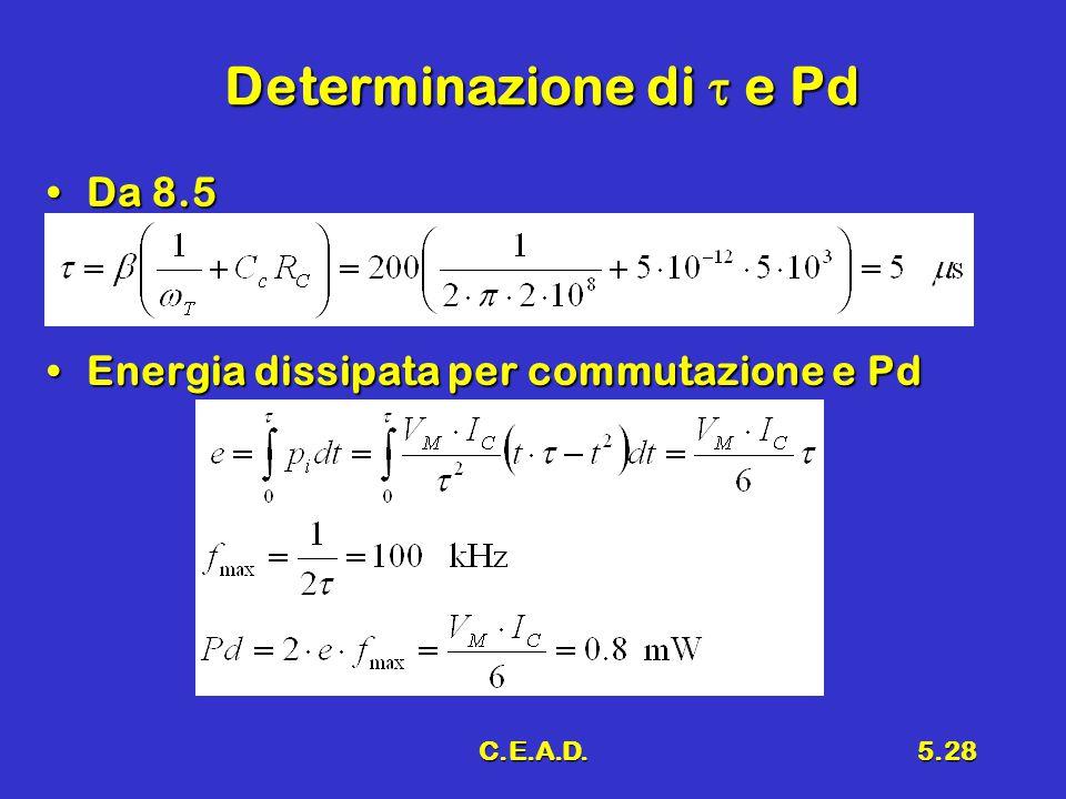 Determinazione di t e Pd