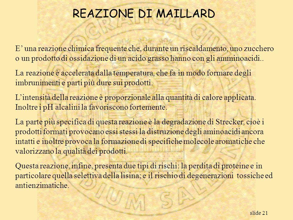 REAZIONE DI MAILLARD