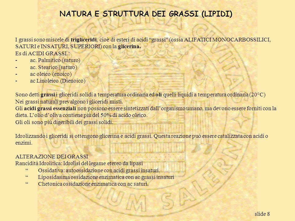 NATURA E STRUTTURA DEI GRASSI (LIPIDI)