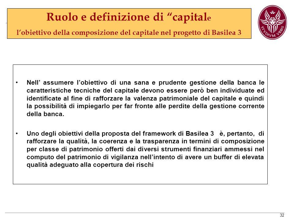 Ruolo e definizione di capitale