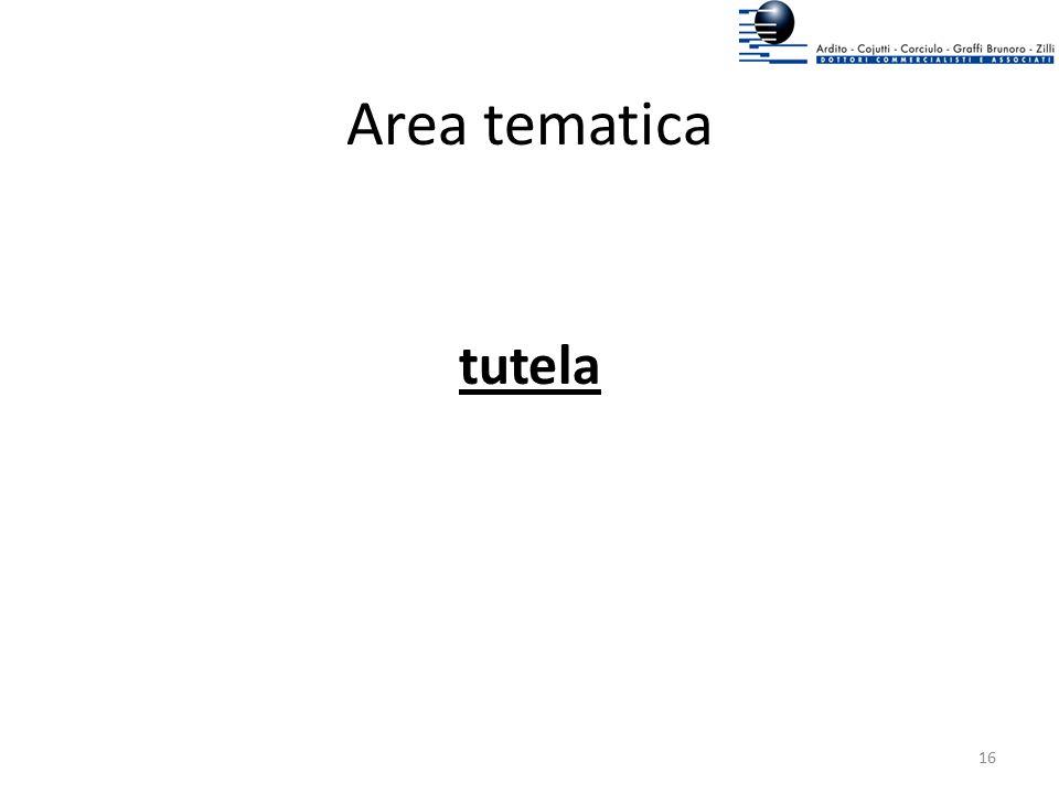 Area tematica tutela