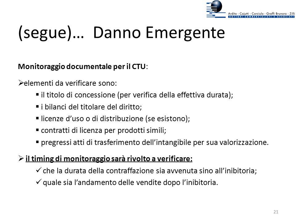 (segue)… Danno Emergente