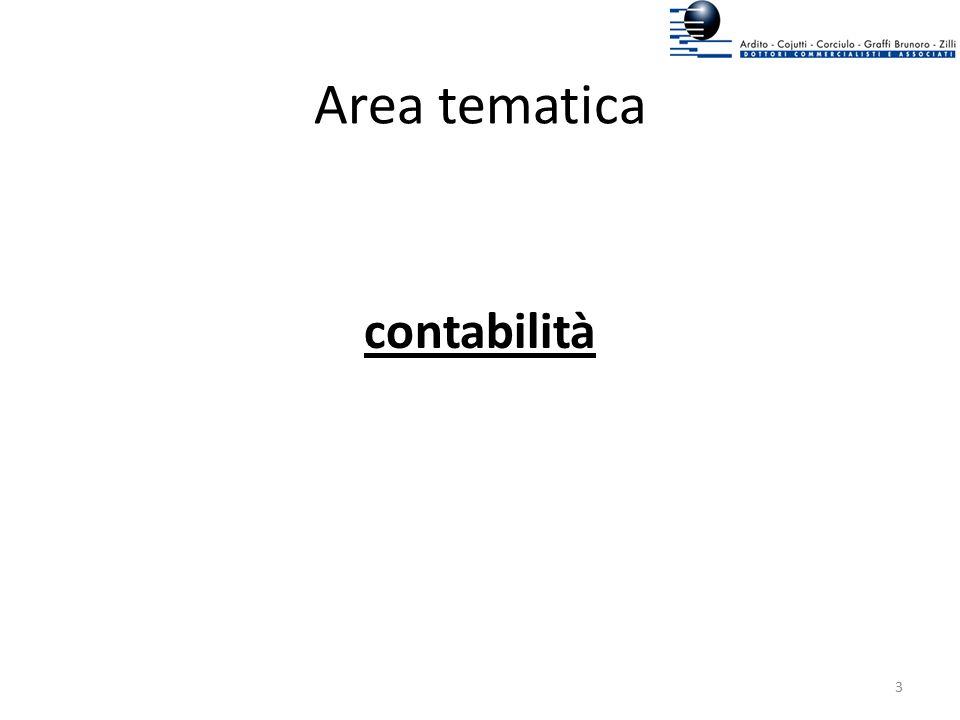 Area tematica contabilità