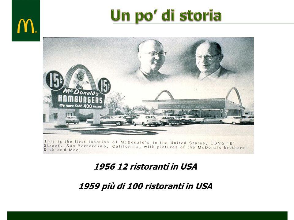 1959 più di 100 ristoranti in USA