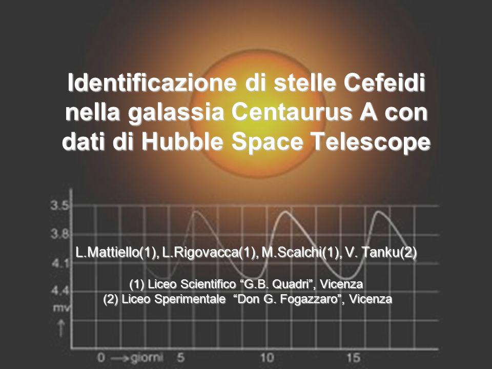 Identificazione di stelle Cefeidi nella galassia Centaurus A con dati di Hubble Space Telescope