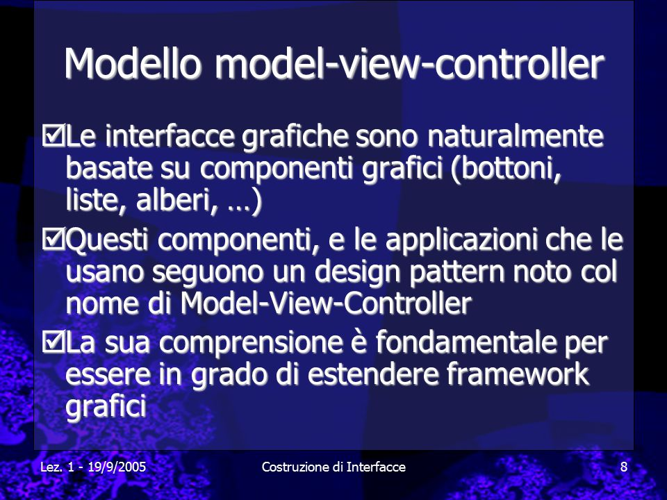 Modello model-view-controller