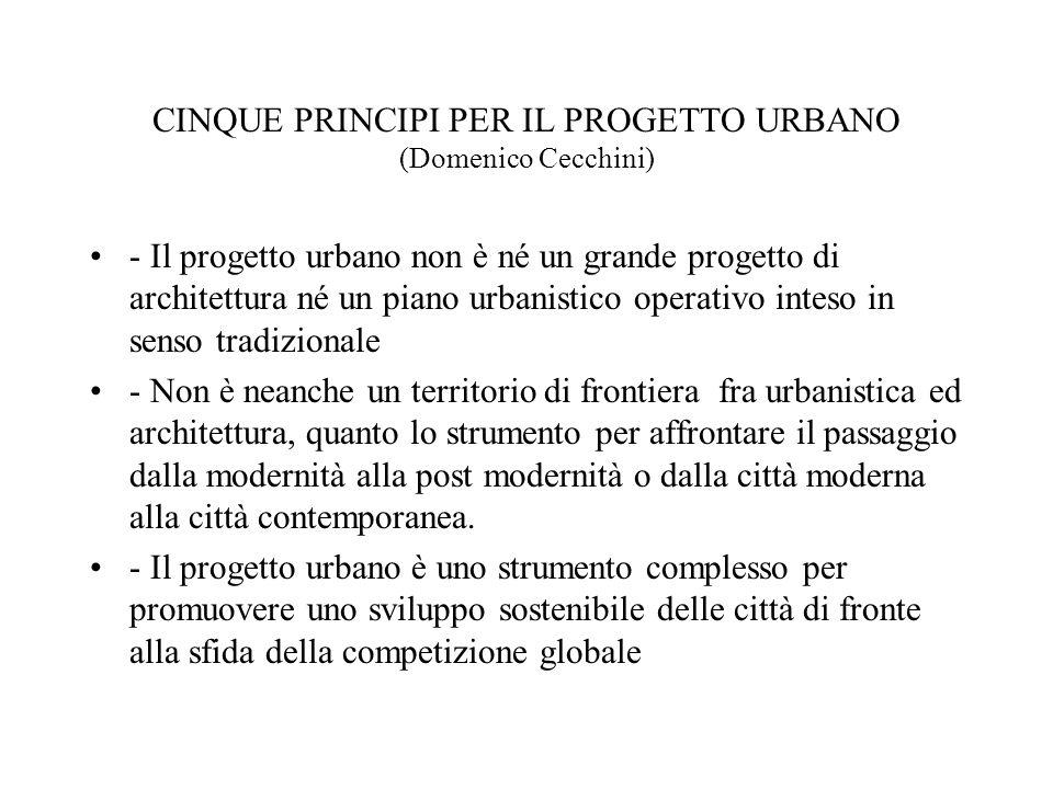 CINQUE PRINCIPI PER IL PROGETTO URBANO (Domenico Cecchini)