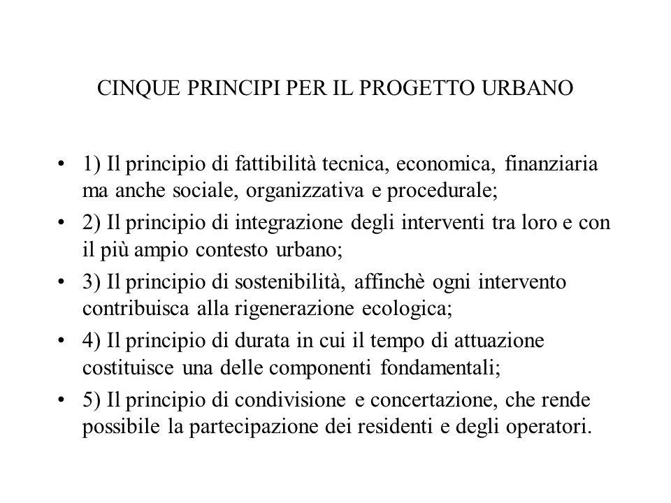 CINQUE PRINCIPI PER IL PROGETTO URBANO