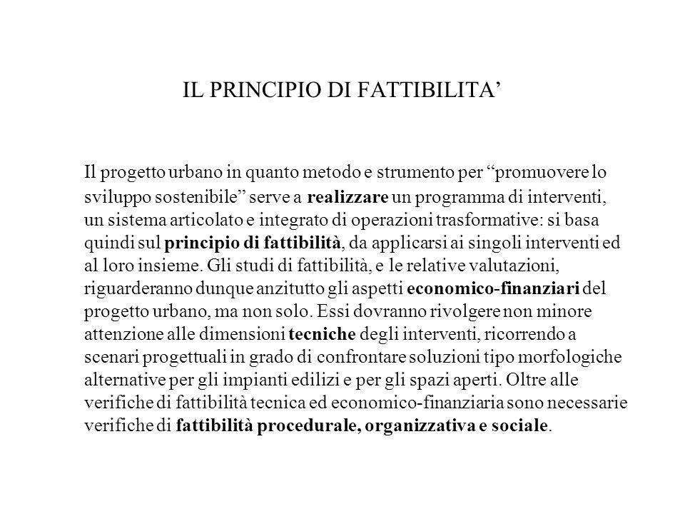 IL PRINCIPIO DI FATTIBILITA'