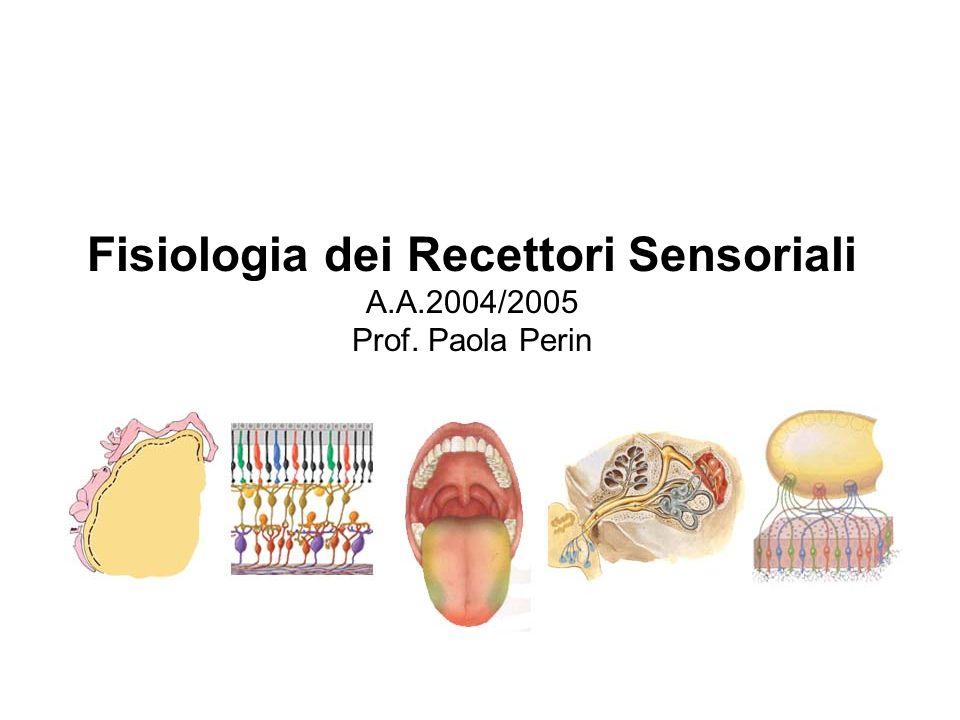 Fisiologia dei Recettori Sensoriali