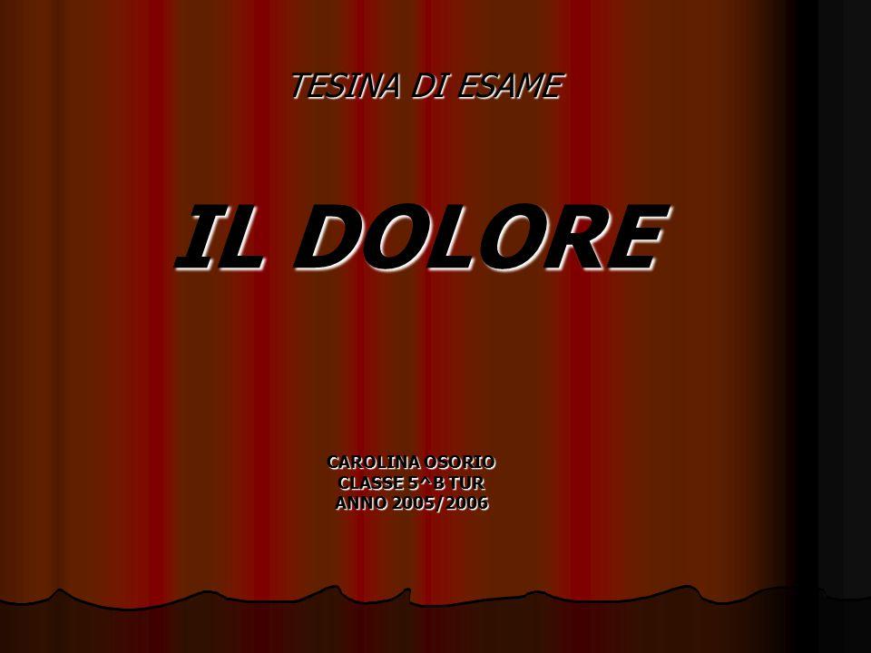 IL DOLORE CAROLINA OSORIO CLASSE 5^B TUR ANNO 2005/2006