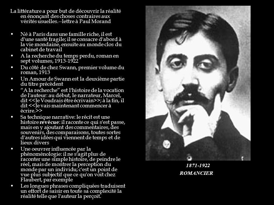 A la recherche du temps perdu, roman en sept volumes, 1913-1922
