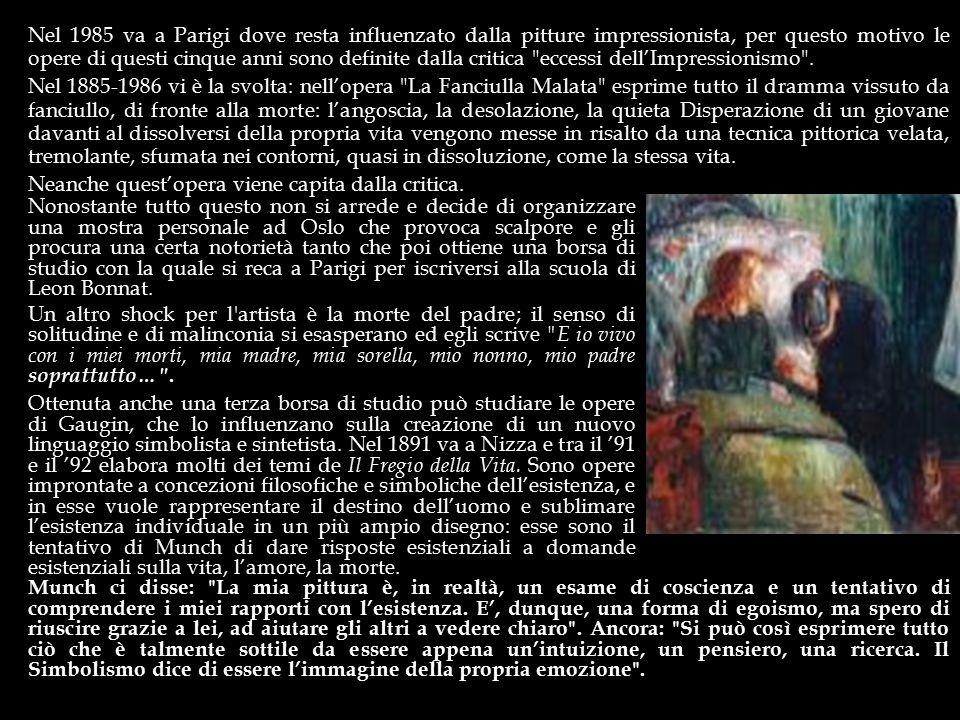 Nel 1985 va a Parigi dove resta influenzato dalla pitture impressionista, per questo motivo le opere di questi cinque anni sono definite dalla critica eccessi dell'Impressionismo .