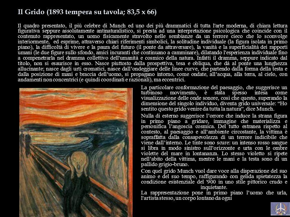 Il Grido (1893 tempera su tavola; 83,5 x 66)