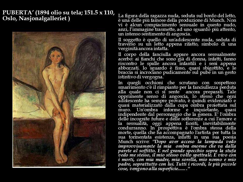 PUBERTA' (1894 olio su tela; 151.5 x 110, Oslo, Nasjonalgalleriet )