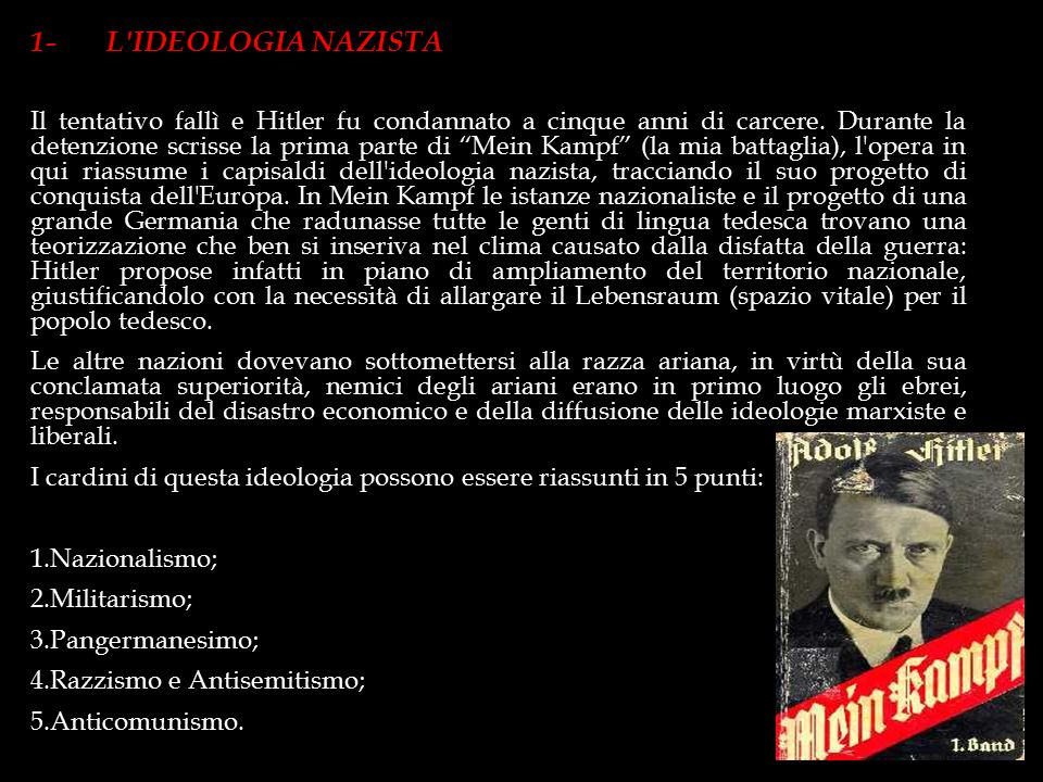 1- L IDEOLOGIA NAZISTA
