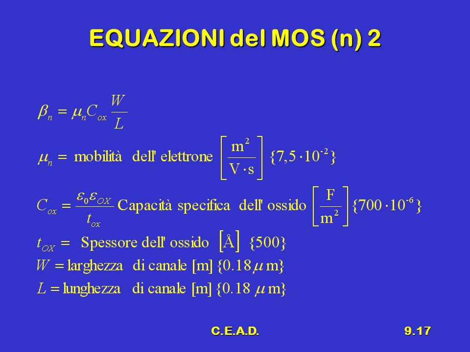 EQUAZIONI del MOS (n) 2 C.E.A.D.
