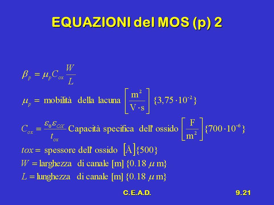 EQUAZIONI del MOS (p) 2 C.E.A.D.