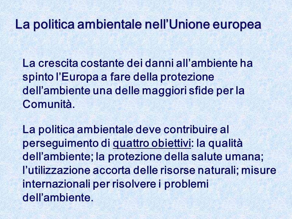La politica ambientale nell'Unione europea