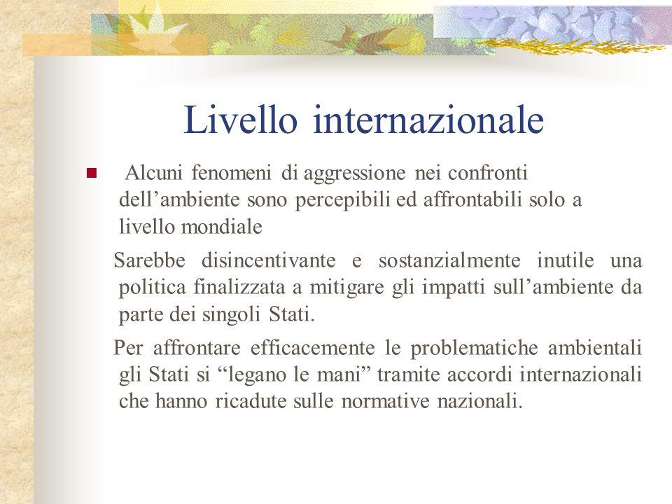 Livello internazionale