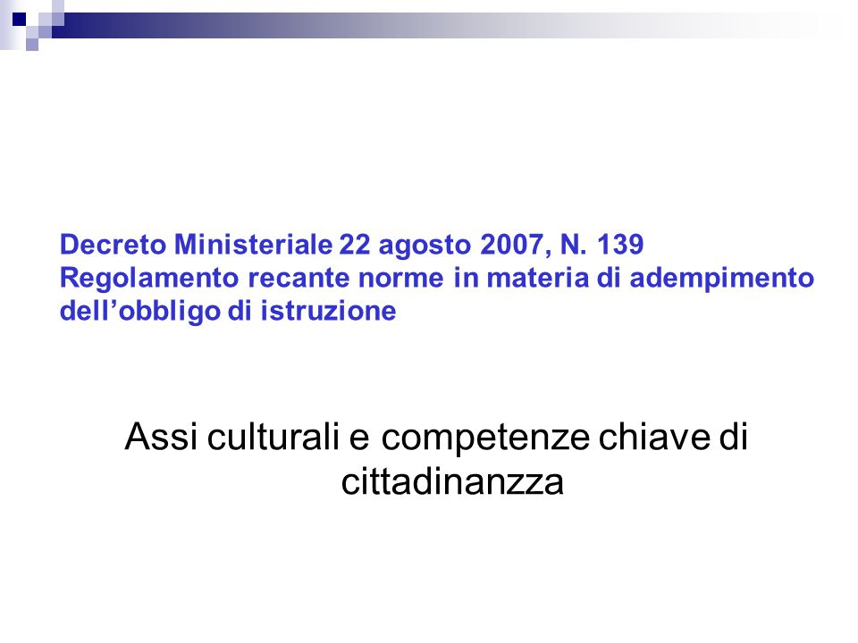 Assi culturali e competenze chiave di cittadinanzza